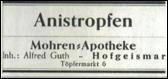 Etikette Anistropfen